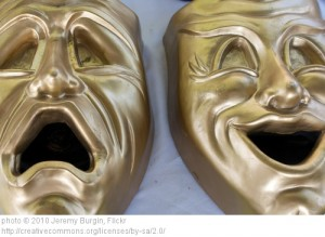 The two faces of theater.
