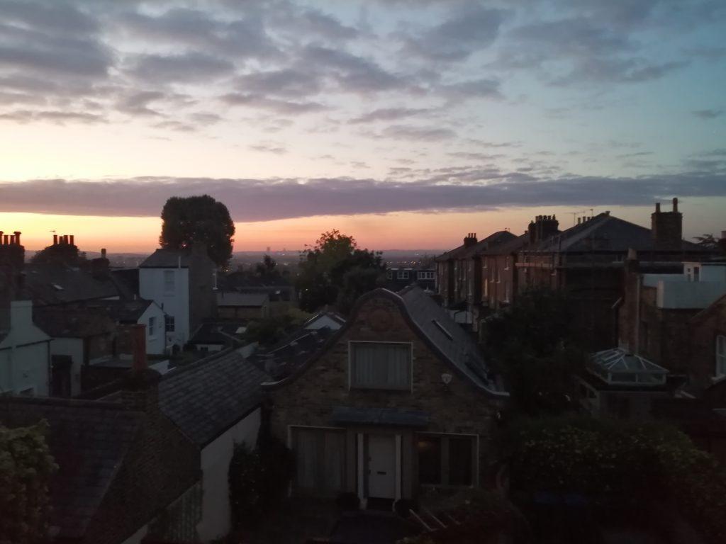 an evening view